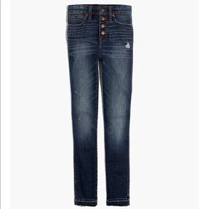 Madewell High Rise Drop Hem Skinny Jeans